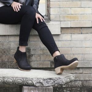 Dansko Markie Tassel Trim Matted Leather Booties 8